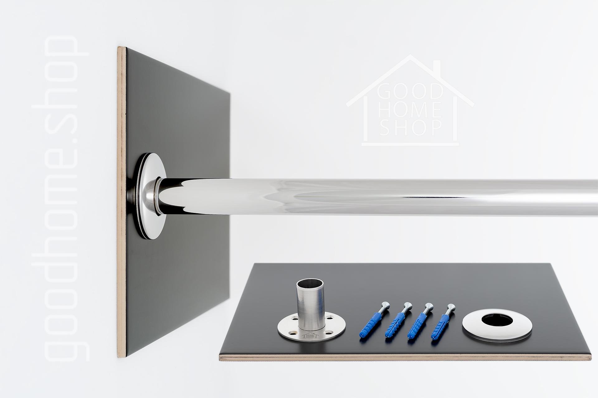 """Карниз для ванной (Штанга) """"усиленный 25"""" Balteco Primo 180x80 Г-образный, угловой"""
