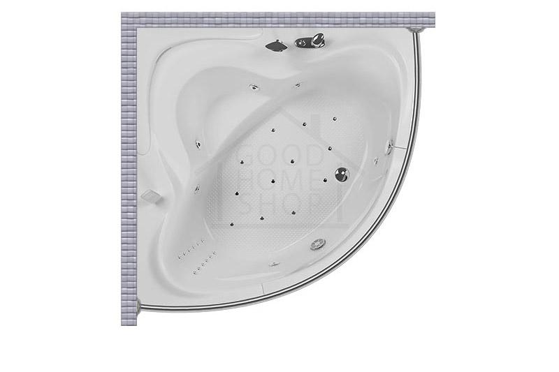 """Карниз для ванной (Штанга) """"Стандарт"""" Aquatika Aquarium 150x150 Полукруглый, дуга"""