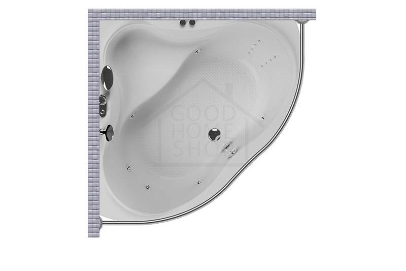 """Карниз для ванной (Штанга) """"Стандарт"""" Aquatika Quorum 143x143 Полукруглый, дуга"""