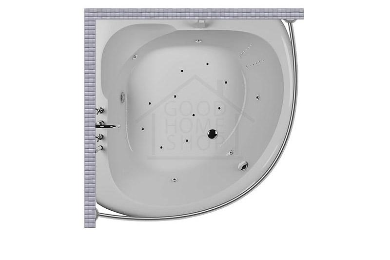 """Карниз для ванной (Штанга) """"Стандарт"""" Aquatika Tema 150x150 Полукруглый, дуга"""