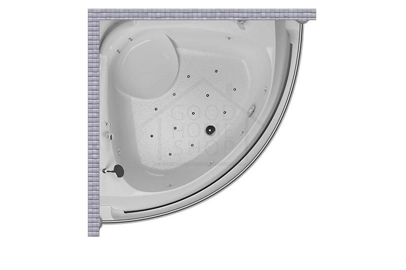 """Карниз для ванной (Штанга) """"Стандарт"""" Aquatika Ultra 173x173 Полукруглый, дуга"""