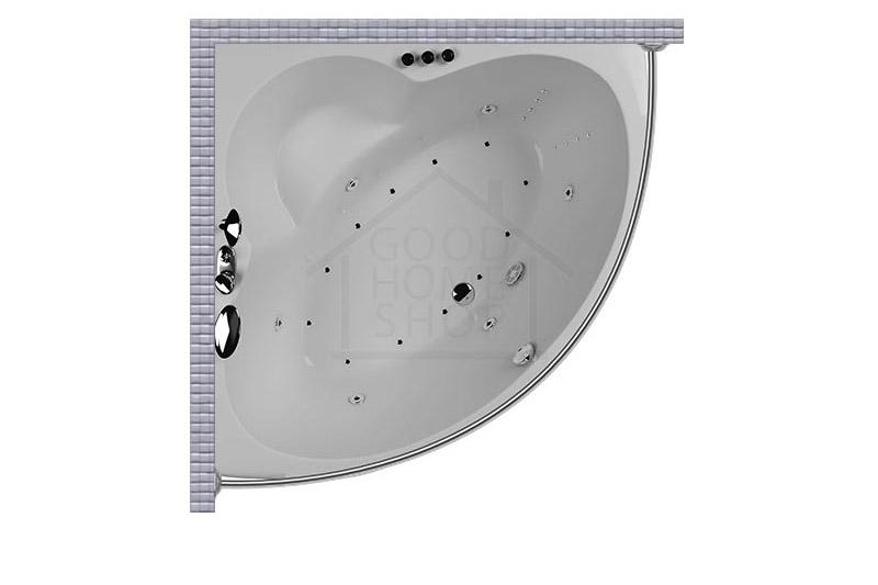 """Карниз для ванной (Штанга) """"Стандарт"""" Aquatika Epura 140x140 Полукруглый, дуга"""