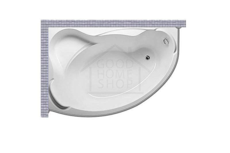 """Карниз для ванной (Штанга) """"Стандарт"""" Aquavita Kataniya 150x100 Асимметричный"""