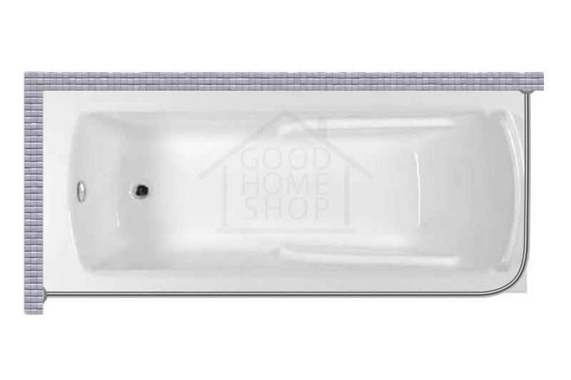 """Карниз для ванной (Штанга) """"Стандарт"""" Artel Plast Варвара 180x80 Г-образный, угловой"""