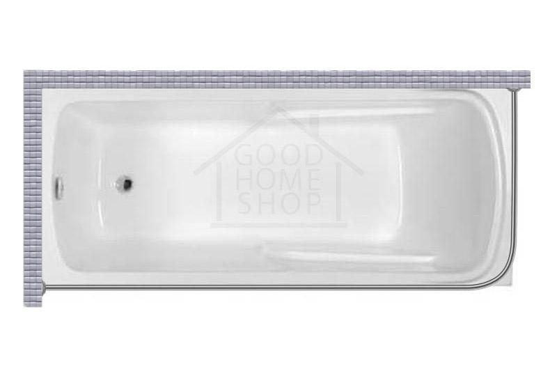 """Карниз для ванной (Штанга) """"Стандарт"""" Artel Plast Калерия 160x70 Г-образный, угловой"""
