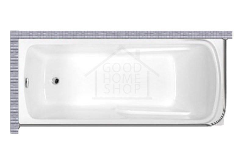 """Карниз для ванной (Штанга) """"Стандарт"""" Artel Plast Оливия 170x70 Г-образный, угловой"""