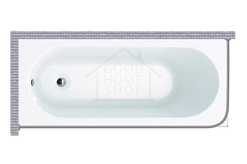 """Карниз для ванной (Штанга) """"Стандарт"""" Artel Plast Орхидея 175x80 Г-образный, угловой"""