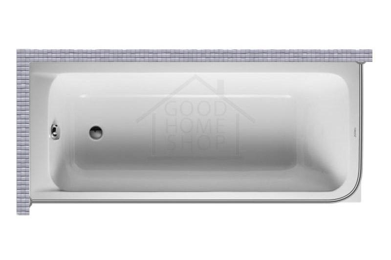 """Карниз для ванной (Штанга) """"Стандарт"""" Duravit D-Code 180x80 Г-образный, угловой"""