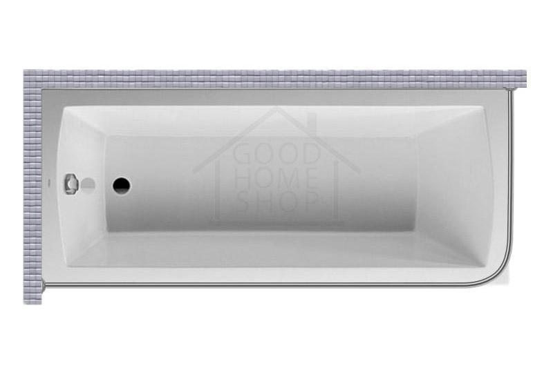 """Карниз для ванной (Штанга) """"Стандарт"""" Duravit Daro 180x80 Г-образный, угловой"""