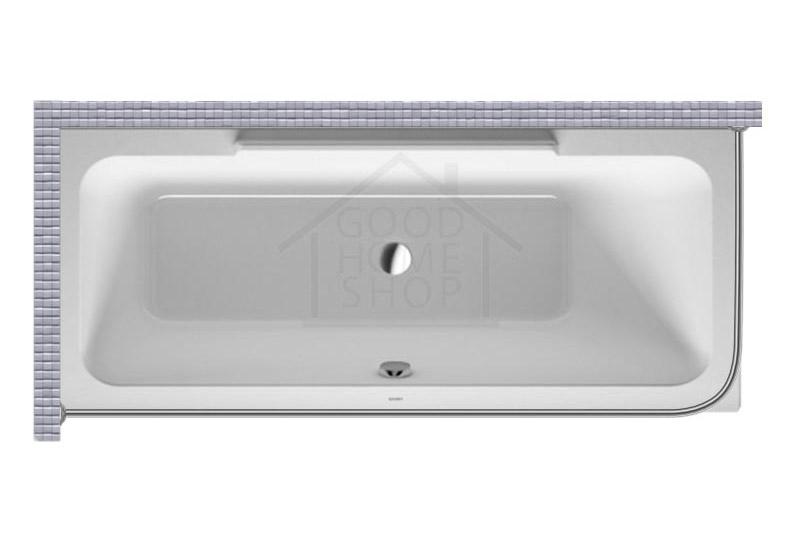 """Карниз для ванной (Штанга) """"Стандарт"""" Duravit Durastyle 180x80 Г-образный, угловой"""