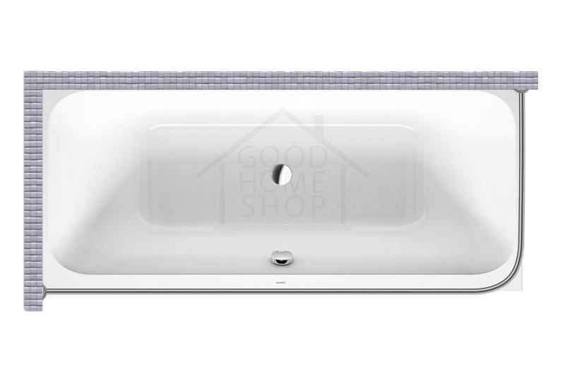 """Карниз для ванной (Штанга) """"Стандарт"""" Duravit Happy D 180x80 Г-образный, угловой"""