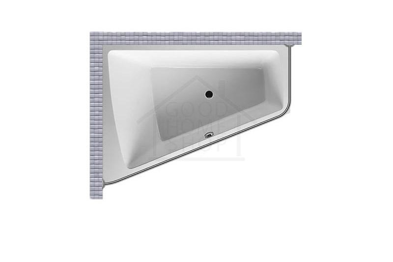 """Карниз для ванной (Штанга) """"Стандарт"""" Duravit Paiova 180x140 Г-образный, угловой"""