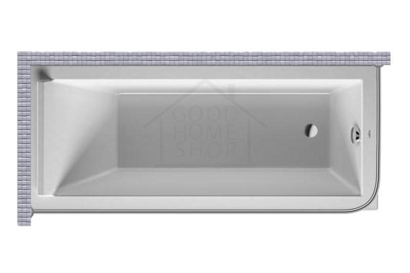 """Карниз для ванной (Штанга) """"Стандарт"""" Duravit Starck 170x75 Г-образный, угловой"""