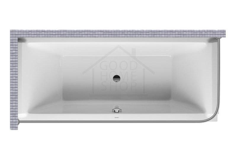 """Карниз для ванной (Штанга) """"Стандарт"""" Duravit Starck 180x80 Г-образный, угловой"""