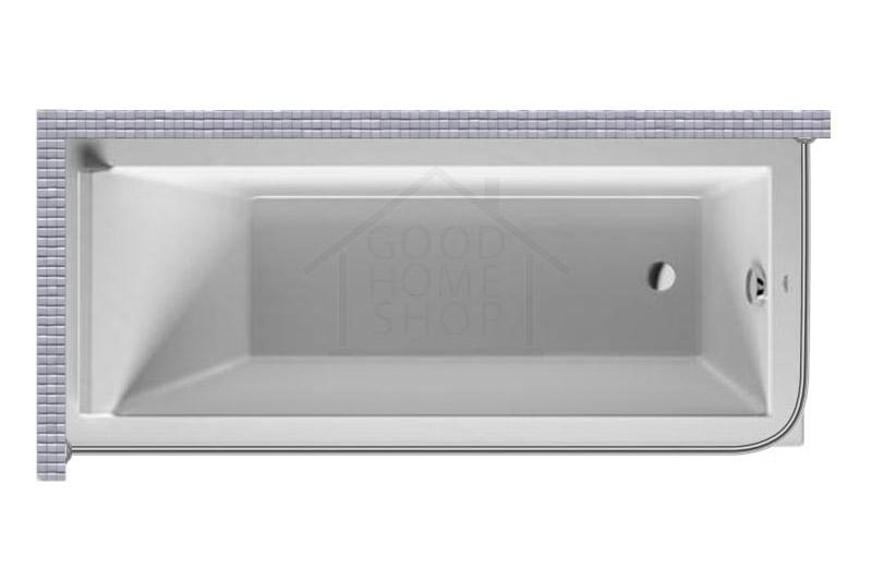 """Карниз для ванной (Штанга) """"Стандарт"""" Duravit Starck 2 170x80 Г-образный, угловой"""