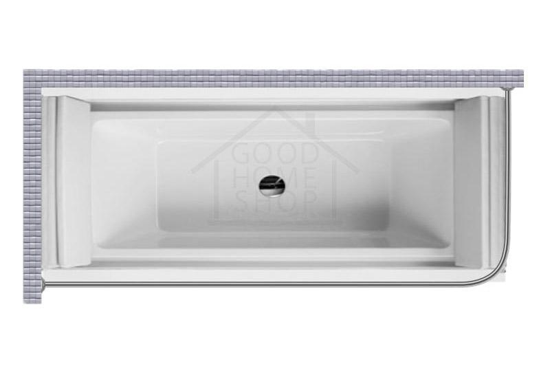 """Карниз для ванной (Штанга) """"Стандарт"""" Duravit Sundeck 205,5x85,5 Г-образный, угловой"""