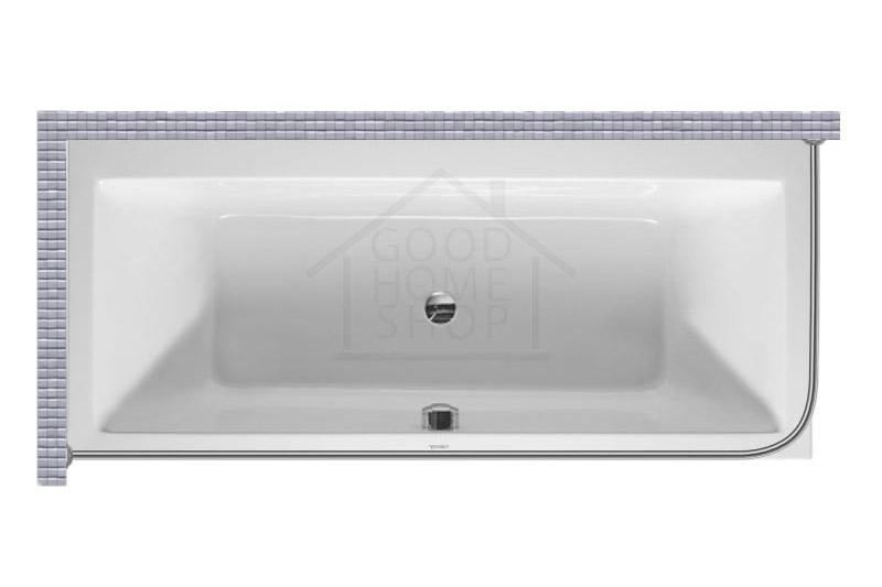 """Карниз для ванной (Штанга) """"Стандарт"""" Duravit Vero 170x70 Г-образный, угловой"""