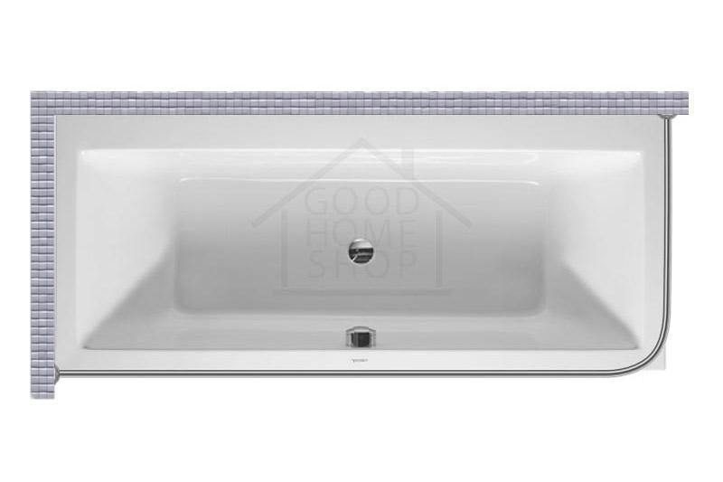 """Карниз для ванной (Штанга) """"Стандарт"""" Duravit Vero 180x80 Г-образный, угловой"""