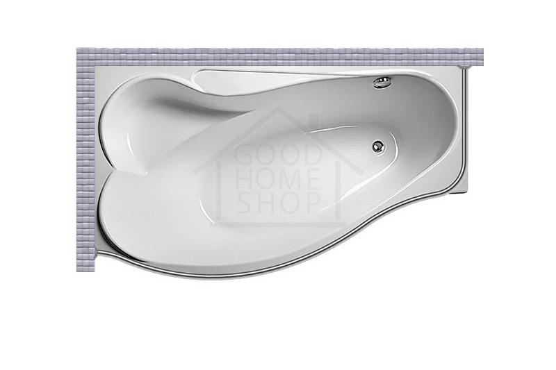 """Карниз для ванной (Штанга) """"Стандарт"""" Eurolux Efes 170x100 Асимметричный"""