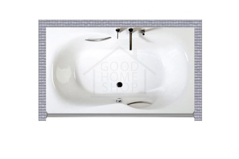 """Карниз для ванной (Штанга) """"Стандарт"""" PAA FANFARA 185x110 Прямой"""