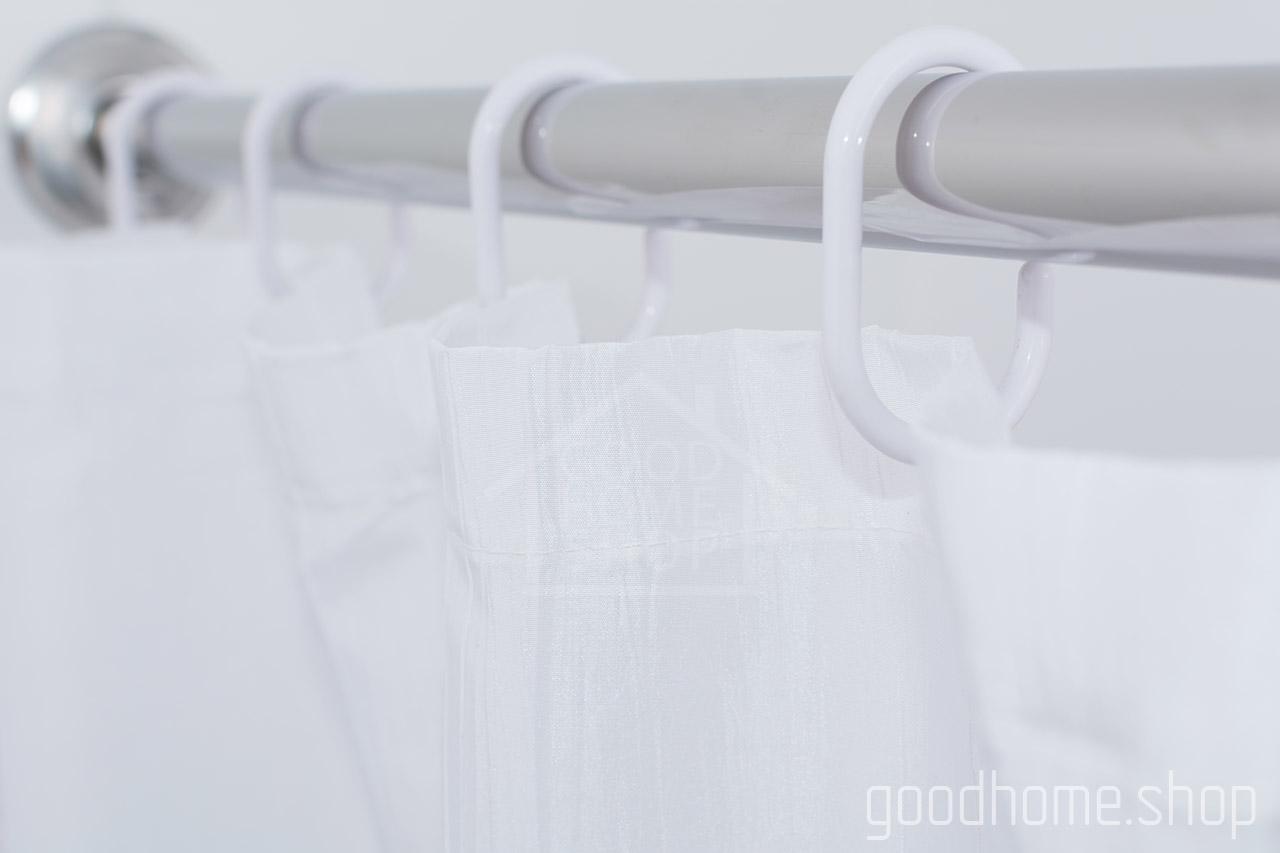 Кольца для штор в ванную Сиа белый