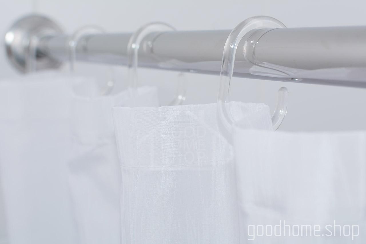 Кольца для штор в ванную Сиа прозрачный