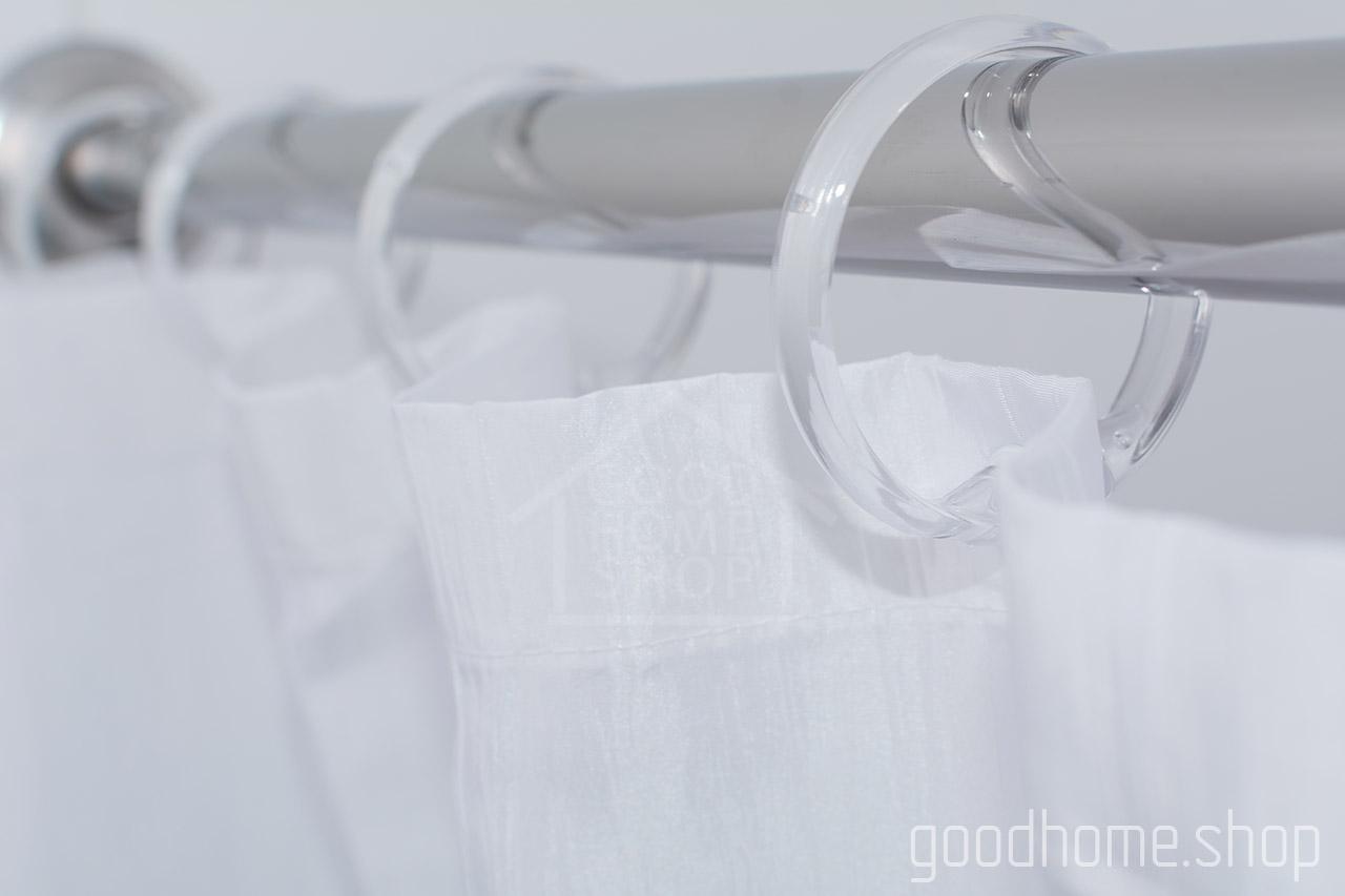 Кольца для штор в ванную с клипсами прозрачные