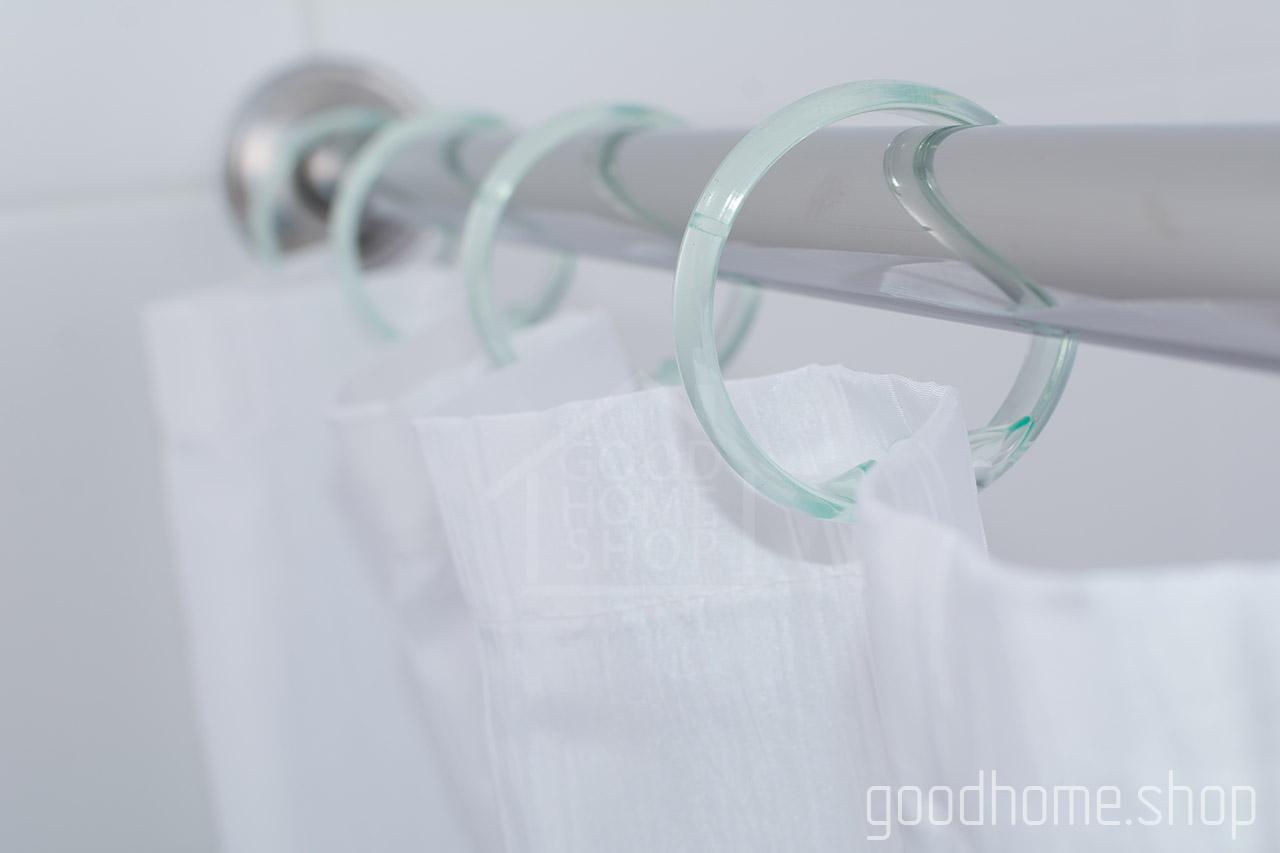 Кольца для штор в ванную с клипсами бледно голубые