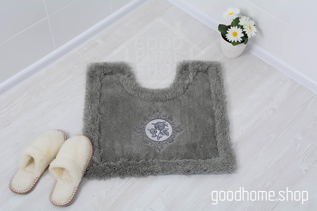 Коврик для туалета Роял серый