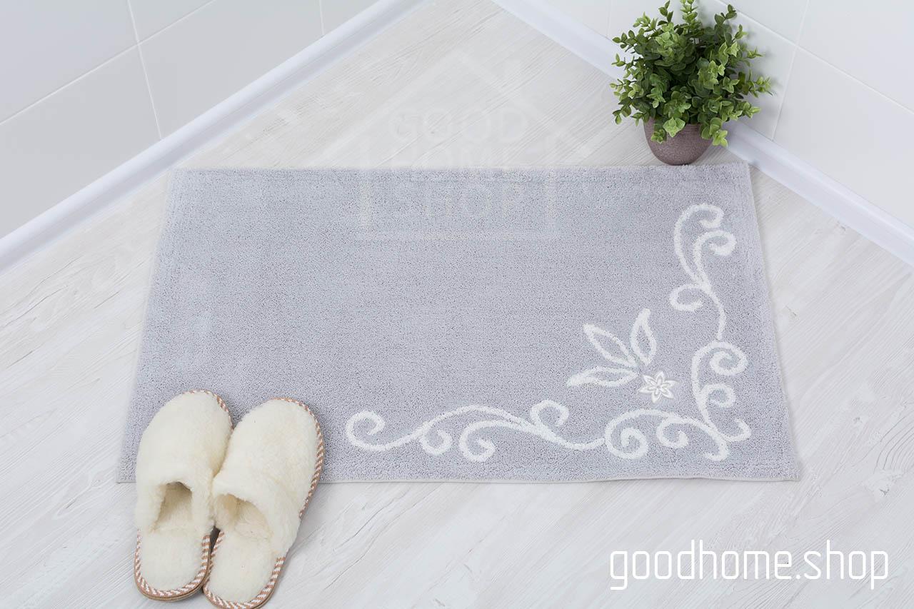 Коврик для ванной Акрил серый