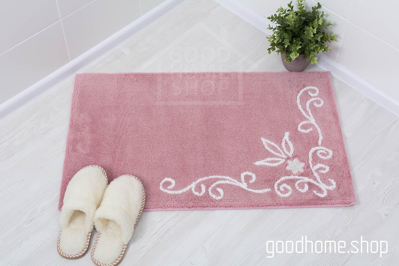 Коврик для ванной Акрил розовый
