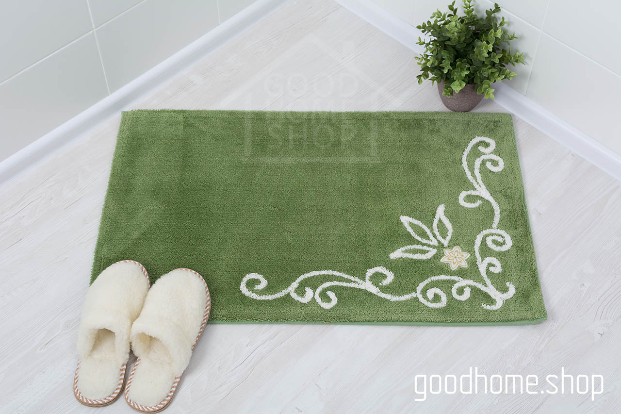 Коврик для ванной Акрил зеленый