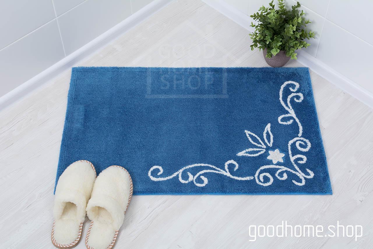 Коврик для ванной Акрил голубой