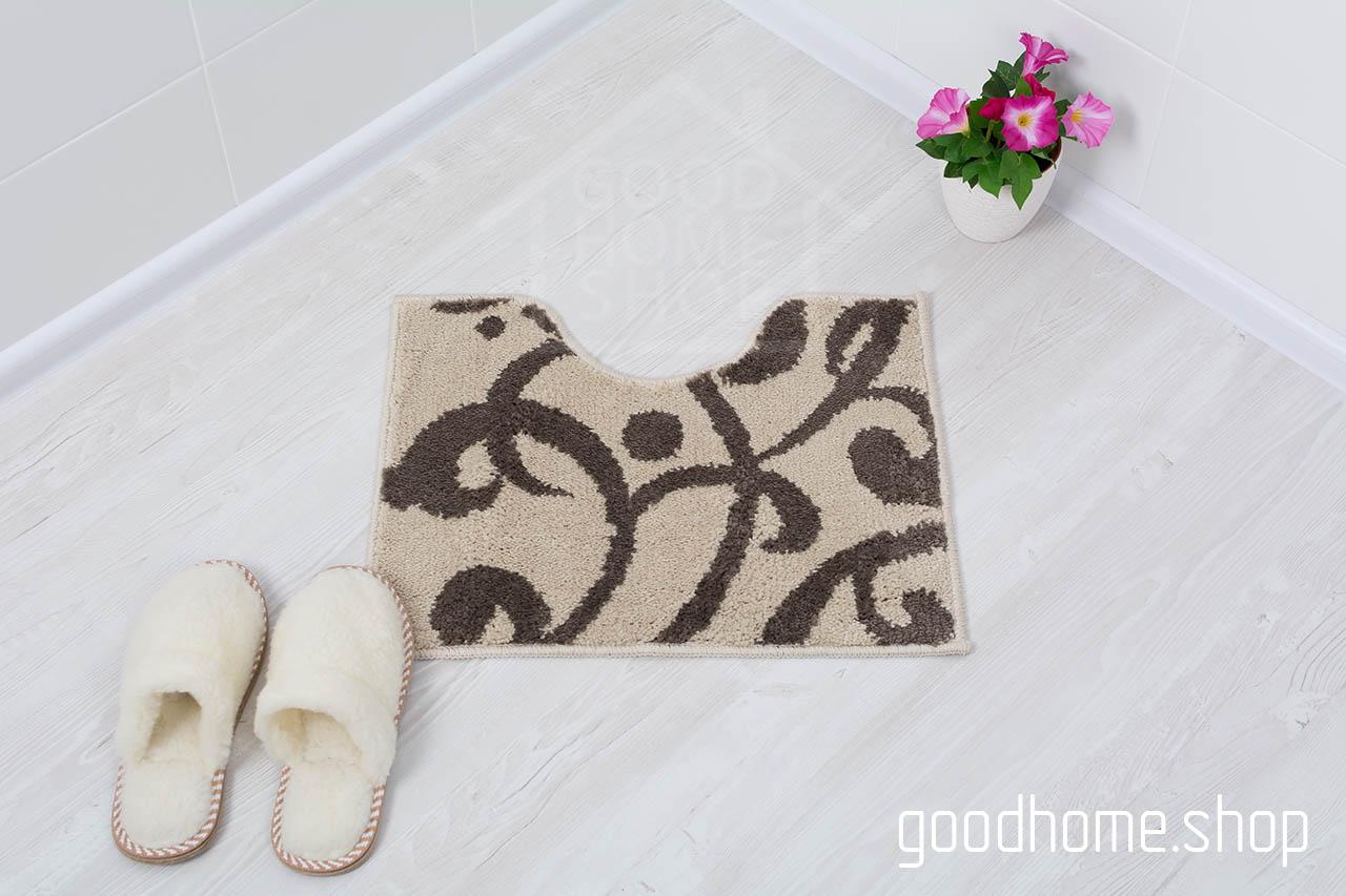 Коврик для туалета Узоры коричневый