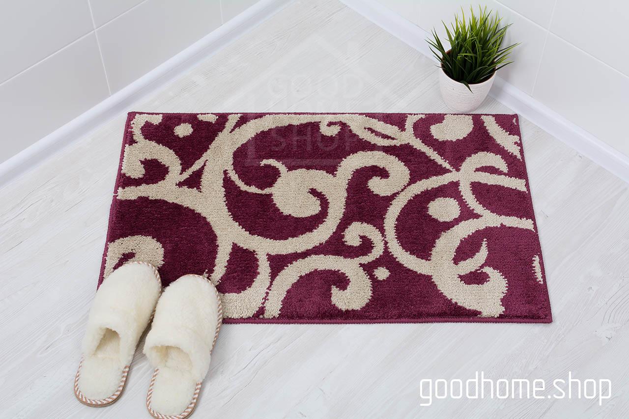 Комплект ковриков Узоры бордовый