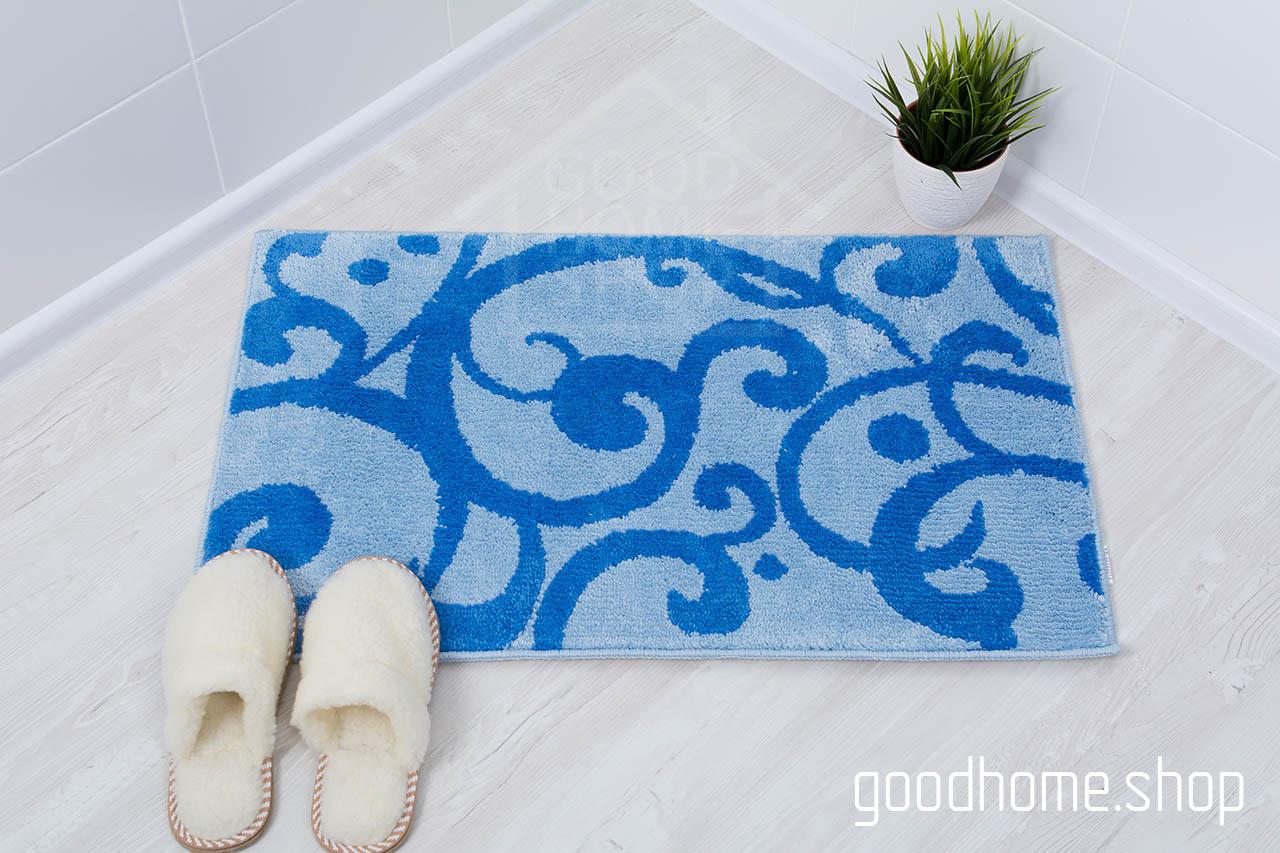 Комплект ковриков Узоры голубой