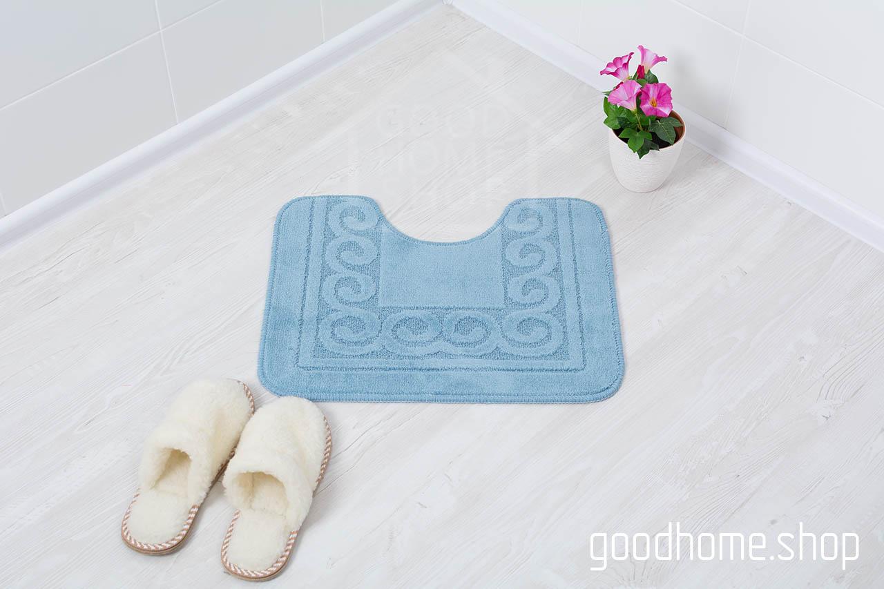 Коврик для туалета голубой