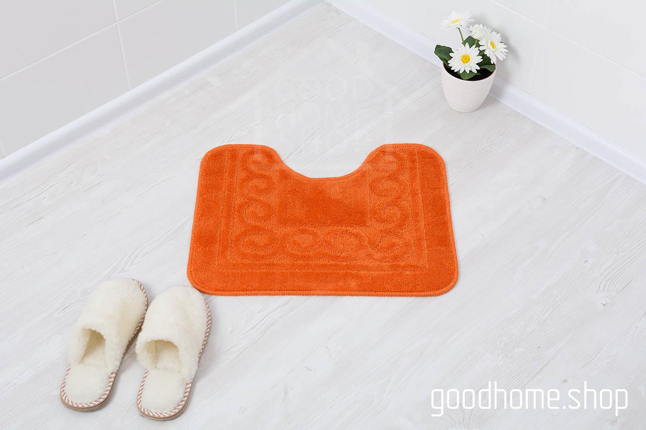 Коврик для туалета оранжевый