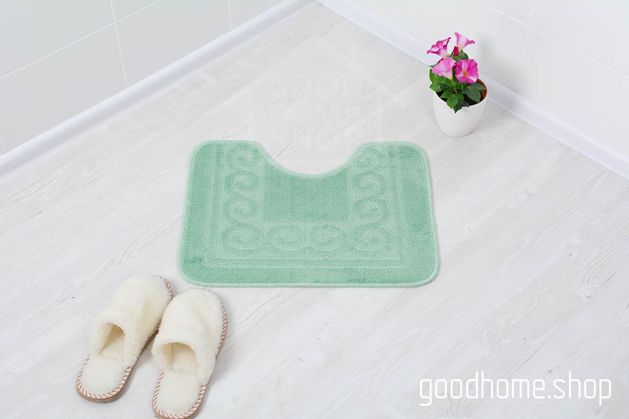 Коврик для туалета зеленый