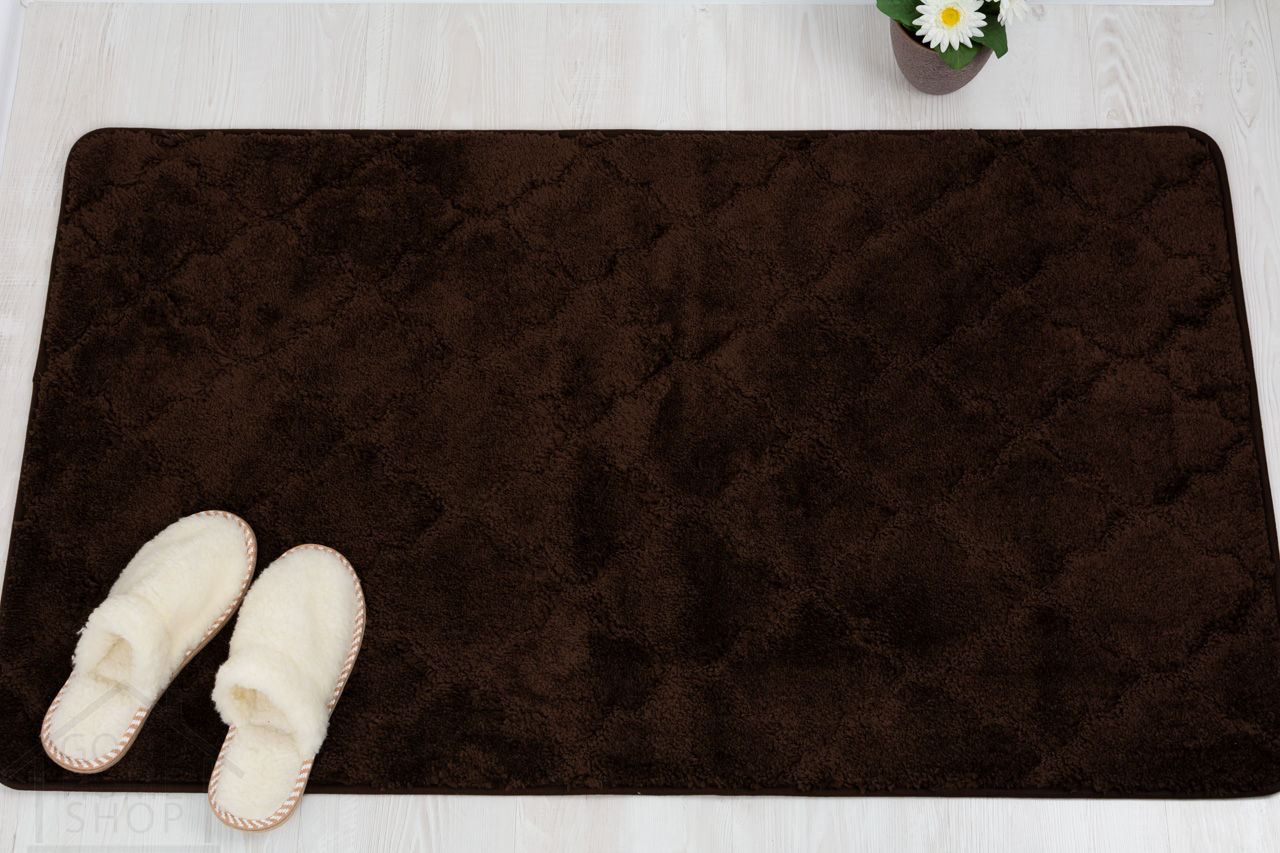 Коврик для ванной Лана коричневый