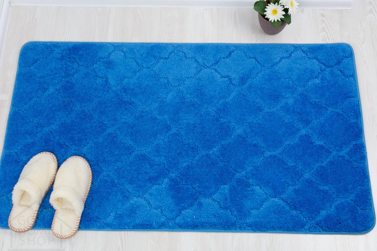 Коврик для ванной Лана синий