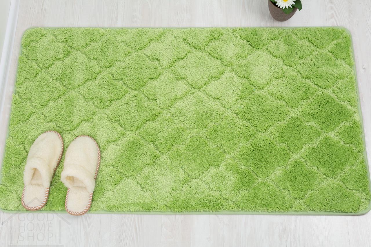 Коврик для ванной Лана зеленый