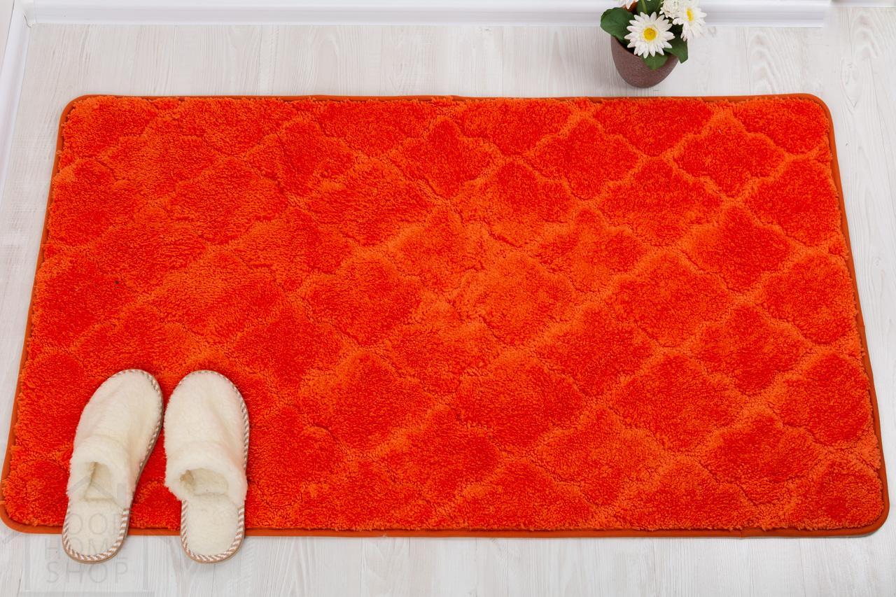 Коврик для ванной Лана оранжевый