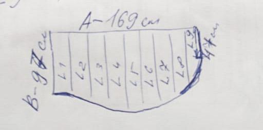 """Карниз для ванной (Штанга) """"усиленный 20"""" Асимметричный 169x102"""