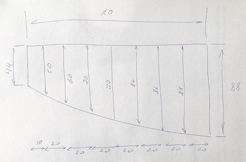 """Карниз для ванной (Штанга) """"усиленный 25"""" Асимметричный 150x88"""