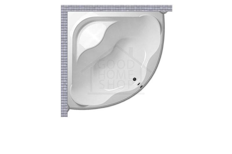 Карниз для ванной угловой, полукруглый, дуга 130x130