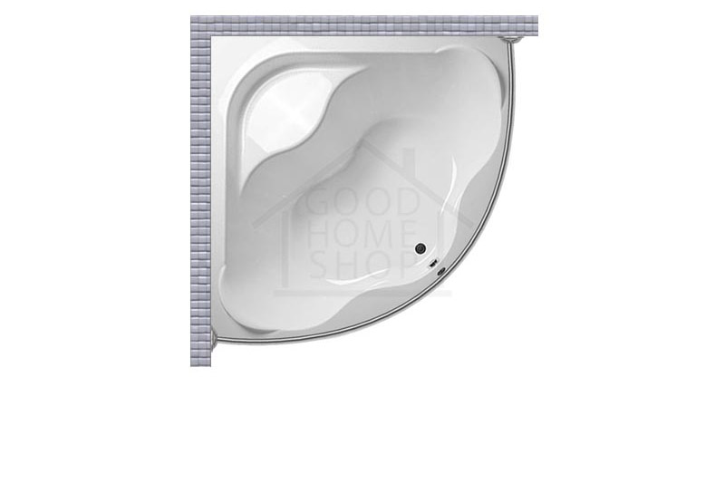 Карниз для ванной угловой, полукруглый, дуга 160x160