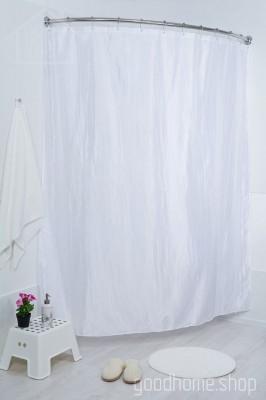 Штора для ванной двухслойная Органза белая 180х200