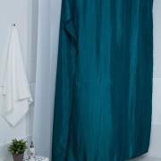 Штора для ванной двухслойная Органза изумрудная