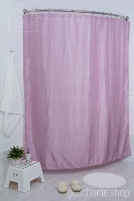 Штора для ванной двухслойная Органза розовая 180х200
